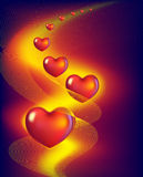 Red hearts. Abstract background with red hearts Royalty Free Stock Photo