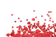 Red hearts. Red heart shape white background Royalty Free Stock Images