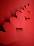 Red hearts. For my love on valentine's day Royalty Free Stock Images