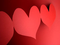 Red hearts. For my love on valentine's day Stock Photos