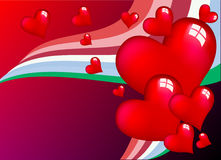 Red hearts. Illustration of a red hearts. space for text Royalty Free Stock Photos