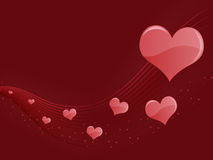 Red Hearts Abstract Background Royalty Free Stock Images