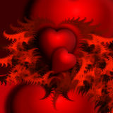 RED HEARTS. Abstract image, vred heart, valentine, love, two heart, red pictures, in love Royalty Free Stock Photography