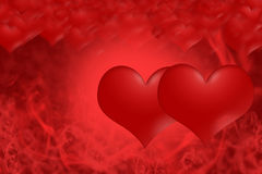 Red hearts all for love Royalty Free Stock Photos