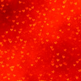 Red hearts background. Lots of scattered red hearts on a red background Stock Image