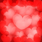 Red hearts background Royalty Free Stock Image