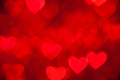 Red hearts background Stock Photo