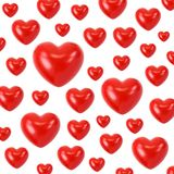 Red hearts background stock images