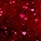 Red hearts background. Red hearts absract background for valentine's day royalty free illustration