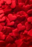 Red hearts background. Backgrounds and textures: red hearts background, suitable for Valentine`s day or wedding or some else romantic event Royalty Free Stock Images