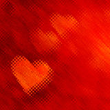 Red Hearts Background With Bubbles Effect. 2D rendered image. Red hearts background with bubbles effect Royalty Free Stock Image