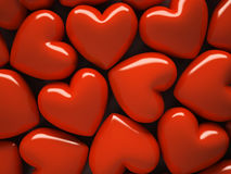 Red hearts  on background Stock Image