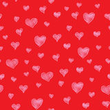 Red hearts background Royalty Free Stock Photo
