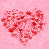 Red hearts background. Love texture Stock Images