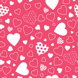 Red hearts background vector illustration