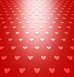 Red hearts background pattern for Valentines Day Royalty Free Stock Photography