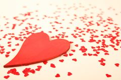 Red hearts background Stock Photos