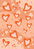 Red Hearts background texture Stock Images