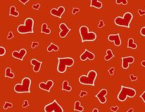Red Hearts background / texture royalty free stock photos