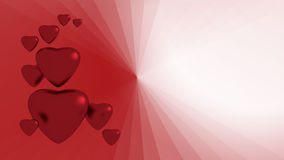 Red hearts. On background for valentine Royalty Free Stock Images