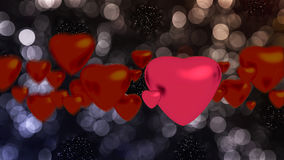 Red hearts. On background for valentine Stock Photo