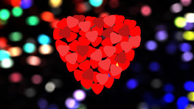 Red hearts. On background for valentine day Royalty Free Stock Photo