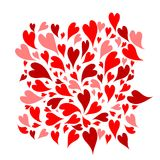 Red hearts background for your design Royalty Free Stock Image