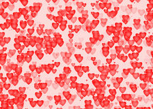 Red hearts backgrounds of Love symbol Stock Photography