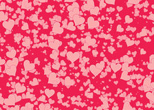 Red hearts backgrounds of Love symbol Stock Image