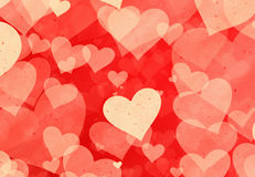 Red hearts backgrounds of Love symbol Royalty Free Stock Image