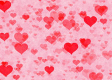 Red hearts backgrounds. Love textures Royalty Free Stock Image