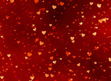 Red hearts backgrounds of Valentine's day. Love texture Stock Photography