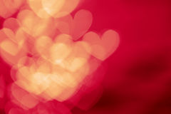 Red hearts bokeh abstract background Royalty Free Stock Photography