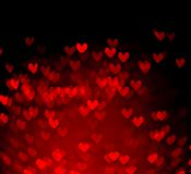 Red hearts bokeh as background Royalty Free Stock Photography