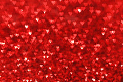 Red hearts bokeh background Royalty Free Stock Image
