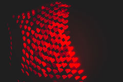 Red hearts bokeh in dark texture for use in graphic design. Valentines style defocused lights background. St. Valentine`s Day Royalty Free Stock Photos