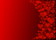Red hearts bokeh effect for Valentines Day. Red hearts bokeh effect.Abstract wallpaper Royalty Free Stock Photo