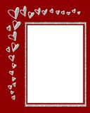 Red hearts border Stock Images