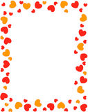 Red hearts border Royalty Free Stock Photography