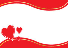 Red hearts and border Stock Photos