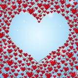 Red Hearts on Chains Stock Images