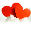 Red hearts on a cloud Royalty Free Stock Photos
