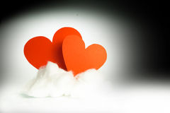Red hearts on a cloud Royalty Free Stock Photography