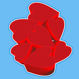 Red Hearts Club Royalty Free Stock Image