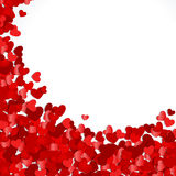 Red hearts confetti. Valentine's day or Wedding background Royalty Free Stock Images