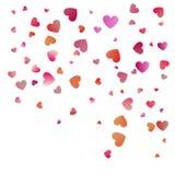 Red hearts confetti celebrations. Simple festive modern design. Holiday vector.  vector illustration