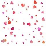 Red hearts confetti celebrations. Simple festive modern design. Holiday vector.  stock illustration