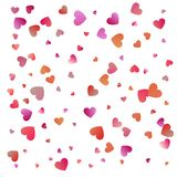 Red hearts confetti celebrations. Simple festive modern design. Holiday vector.  royalty free illustration