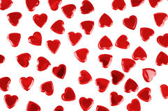 Red hearts confetti isolated Royalty Free Stock Images