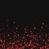 Red hearts confetti. Stock Photo